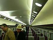 台湾新幹線の商務クラスの車内