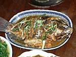 魚の煮付け。プユマ風