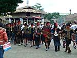 屏東県からやってきたパイワン族の少年たち