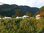 白木屋渡假休閒民宿を遠くから眺めたショット