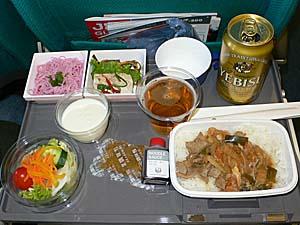 日本航空 高雄-成田機内食