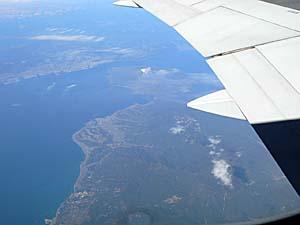 日本航空 高雄-成田線 鹿児島上空を飛んだところ。
