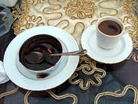 トルココーヒーとチョコレートプディング