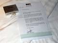 出発案内メッセージとお土産 ラ・ベランダリゾート/フーコック島