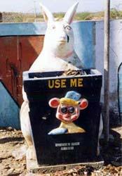 ニューデリーのうさぎのゴミ箱
