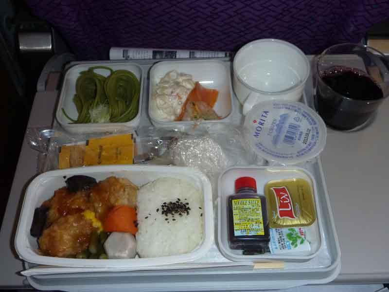 マレーシア航空、タイ航空機内食:成田-クアラルンプール-バンコク-成田