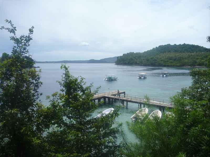 スマトラ島沖ウェー島:サバンからイボイへ移動。ベチャにした。