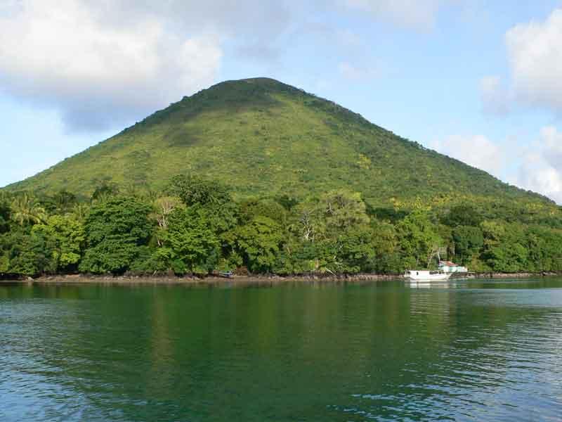 バンダ島 グヌンアピ周辺でシュノーケリング。サンゴ礁のお花畑!