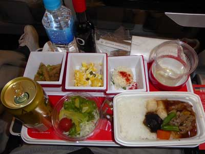 JAL 成田-ジャカルタ機内食 和食