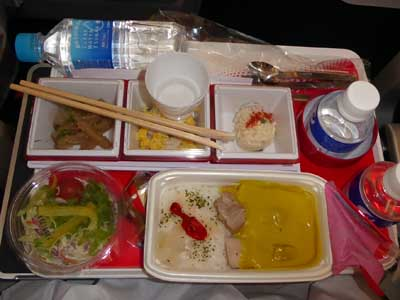 JAL 成田-ジャカルタ機内食 アジアカレー