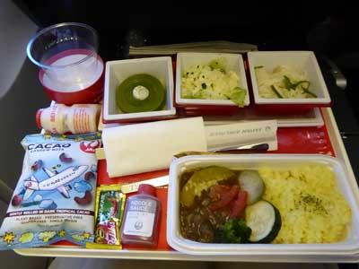 JAL インドネシア-成田機内食 カレー