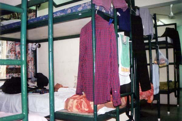スバで泊まったドミトリーの部屋