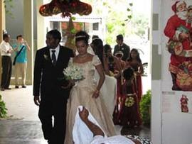 スリランカ:ニゴンボのホテルで洋風結婚式見学