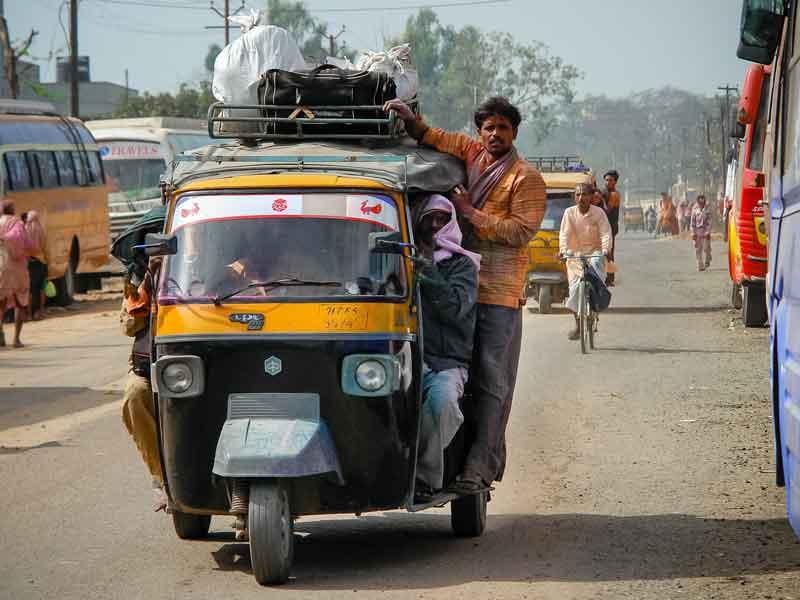 バンガロールでは珍しい。むかっぱらたつりきしゃーまん。