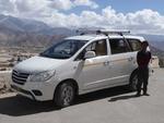 ラダックの旅:パンゴンツォからの復路にて。いいドライバーでも事故る。