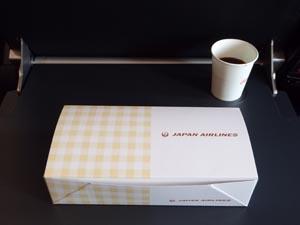 JAL 成田-デリー機内食 軽食パック