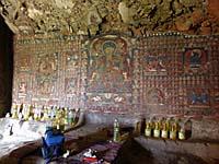 サスポール石窟の壁画