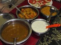 アムチの家で出た晩ご飯