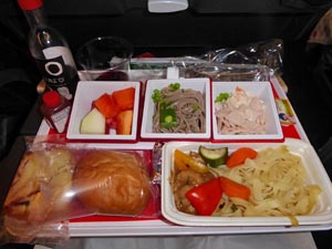 JAL デリーー成田機内食[洋食]