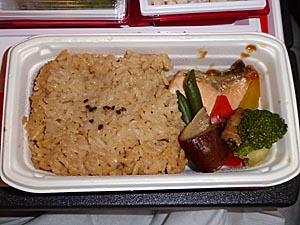 JAL デリーー成田機内食[和食]