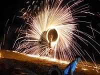 チャーン島の宿で毎晩あるファイアーショー