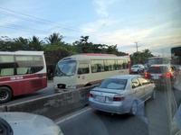 サイゴンからカントー行きの道路の渋滞