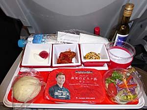 JAL 成田-ホーチミンシティ機内食 海老のビスマルク風カレー