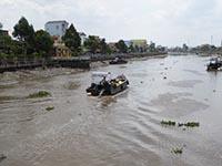 ソクチャンを流れる川 乾期は水が少ない