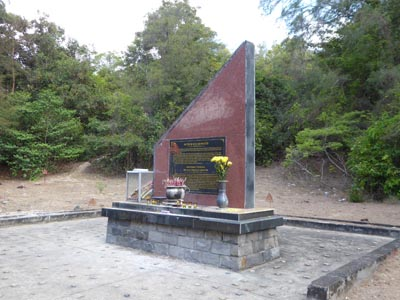 コンダオ島のあちこちにある慰霊碑